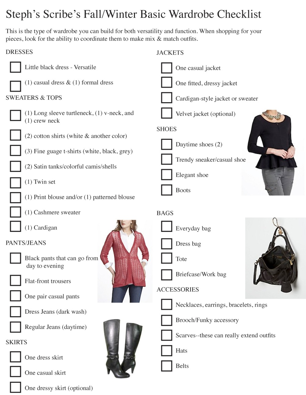 Fall Wardrobe Checklist Steph's Scribe.indd