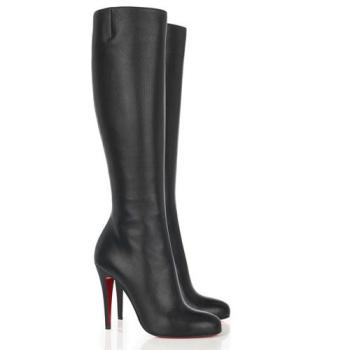 Sleek black boots...a must! Either high heel or low will work.