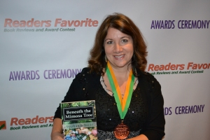 Yours Truly with the Bronze Medal Award. Readers Favorite Ceremony, Miami, Florida. November 16, 2012.
