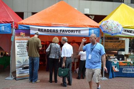 Readers Favorite Tent at the Miami Book Fair. Miami, Florida. November 15, 2012.