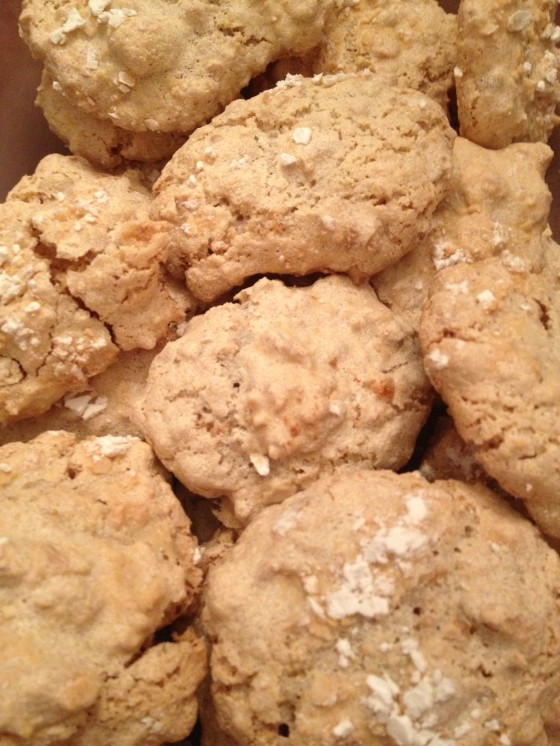 My Amaretti Cookie...out of the oven and ready to eat.