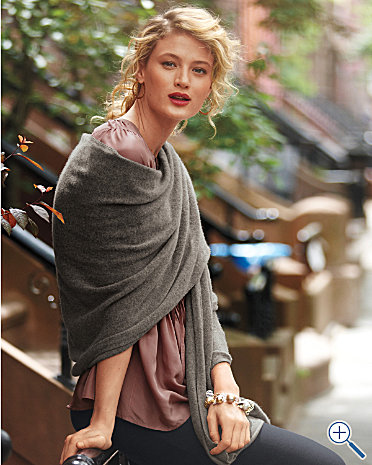 Cashmere wrap. From Garnet Hill.