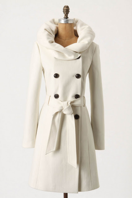 White Winter Coat. Anthropologie.