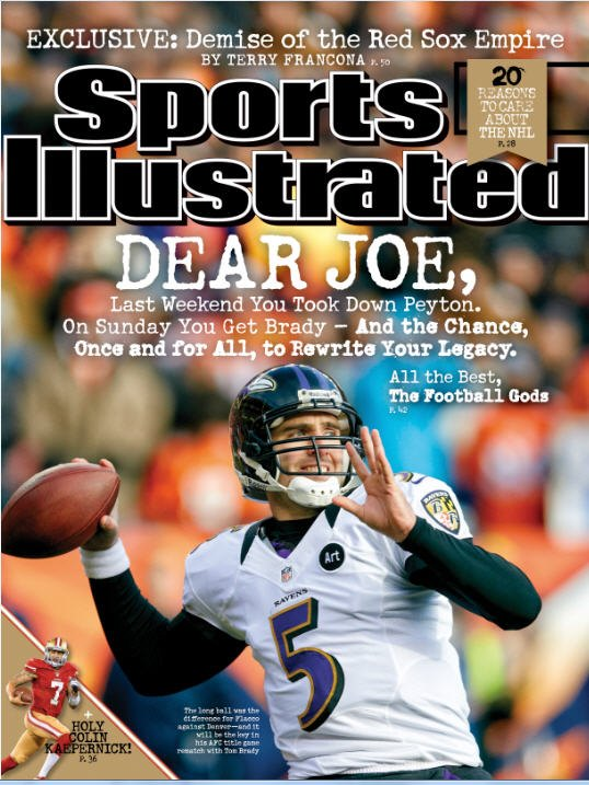 Joe Flacco makes the cover of Sports Illustrated.