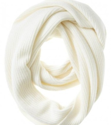 White Cashmere Winter Scarf
