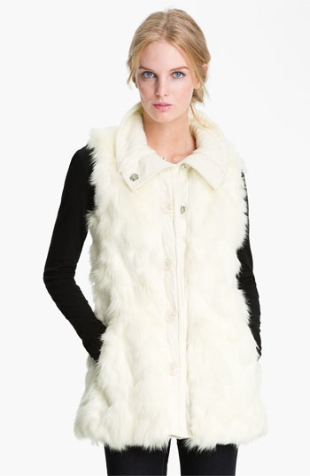 Winter White Vest, Nordstrom
