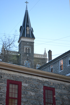 Our church in Ellicott City, St. Paul's, where, incidentally Babe Ruth's second marriage took place.