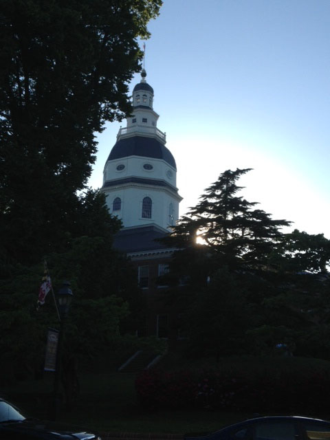 The Annapolis Capitol Building.