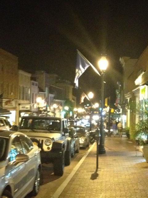 The Evening Lights of Main Street.