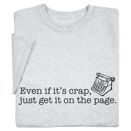 #2: A shirt--Crap on a Page