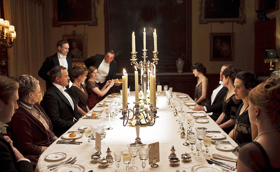 The richness of the Downton dinner and conversation.