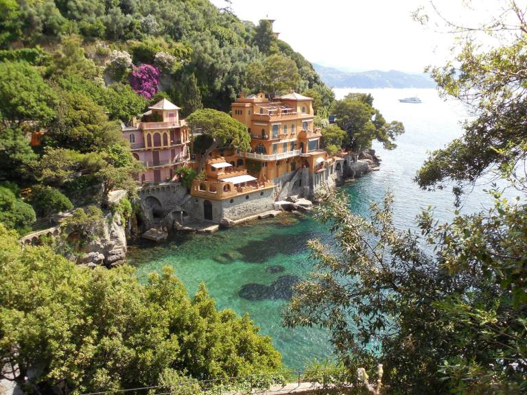 The Walk from Santa Margherita to Portofino. Italy.