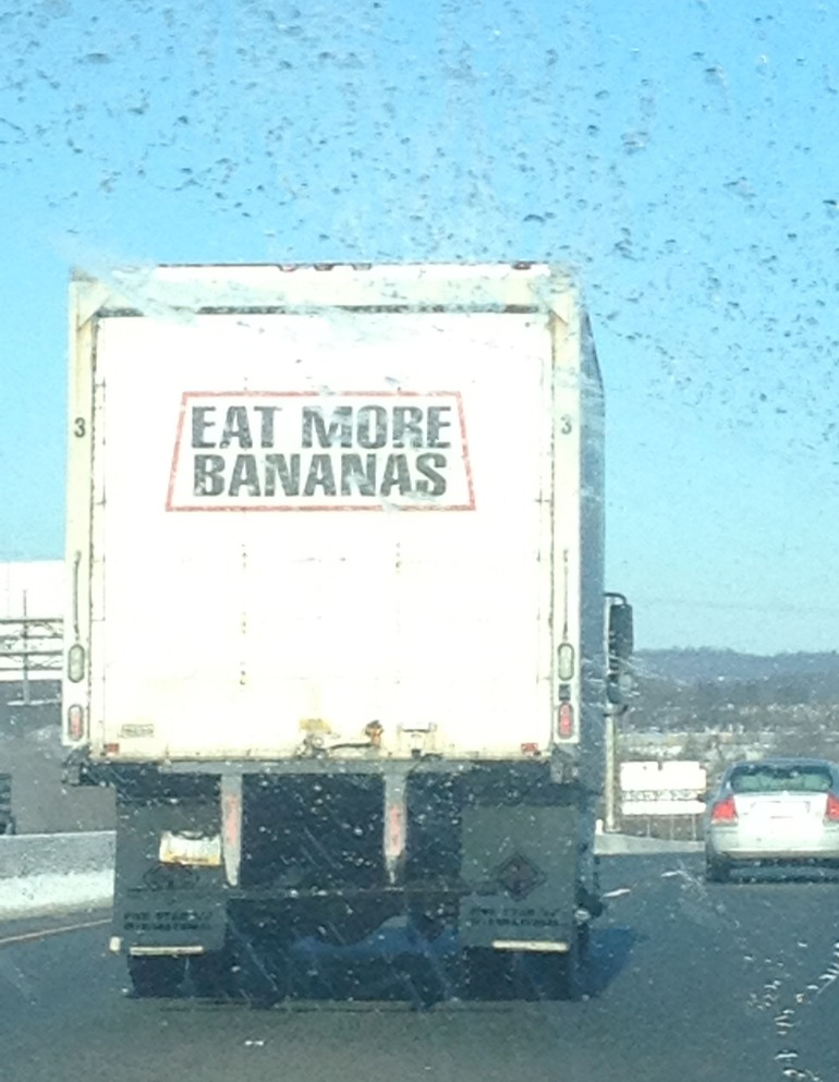 """Eat More Bananas."" Photo credit: Eleanor Verni."