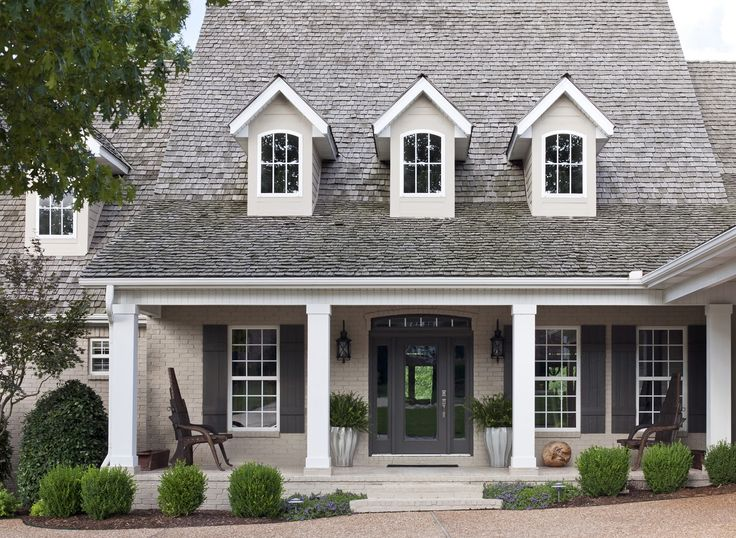 This is the photo that helped me choose the colors for the home. While our house is a colonial and not a Cape Cod, I love the muted tones, and look forward to adding color in the flower beds.