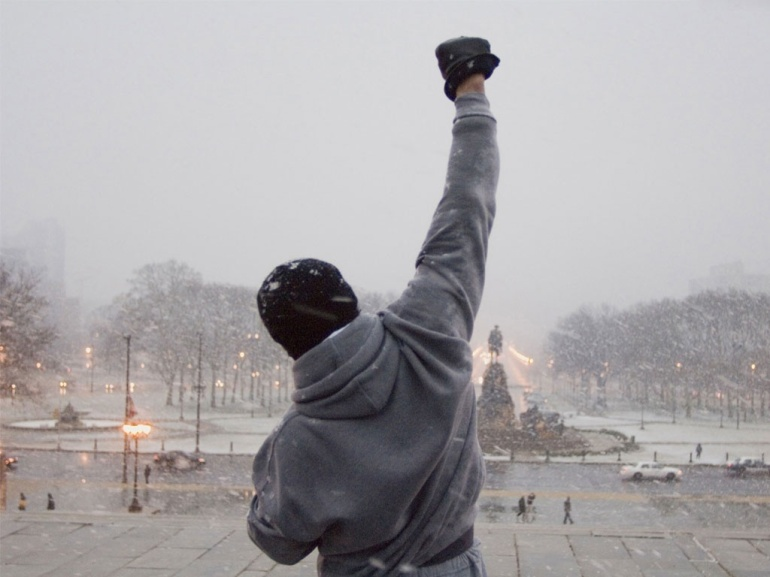 "From the film ""Rocky."" Rocky Balboa/Sylvester Stallone."