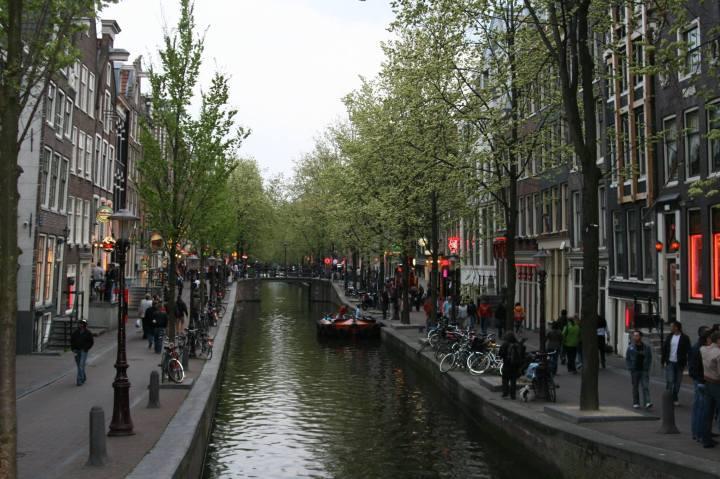 Red Light District, Amsterdam. Photo Credit: Katie Vogel