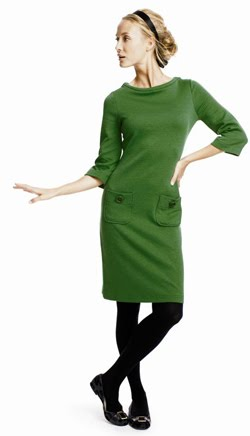 Simple green dress...but just so sophisticated and cute.