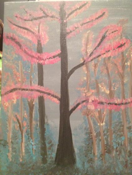 "My artwork from ""Wine & Canvas"" Night."