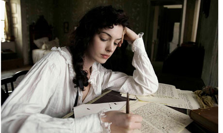 Anne Hathaway as Jane Austen in Becoming Jane
