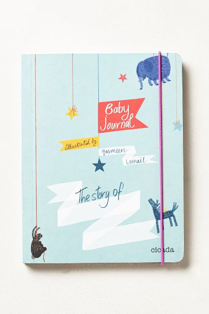 This is a cute baby journal, available at Anthropologie.