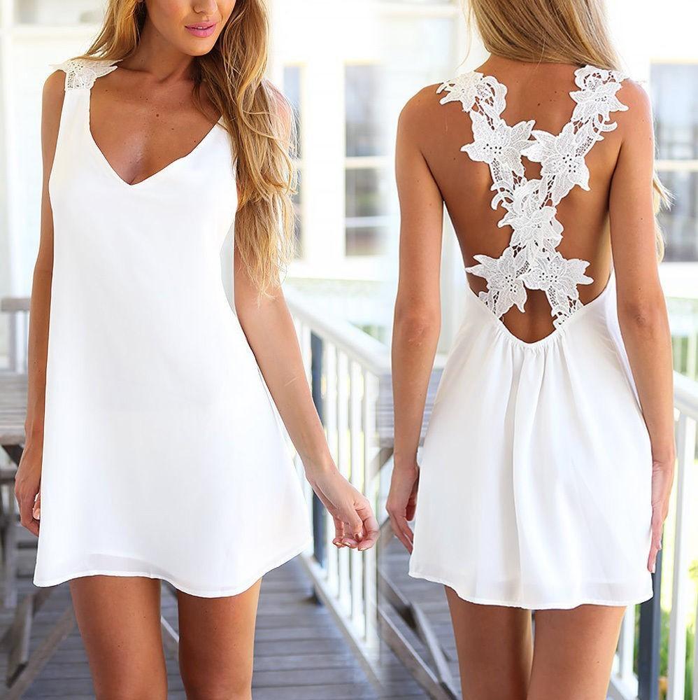 Summer Lace Dress from Bonanza.com