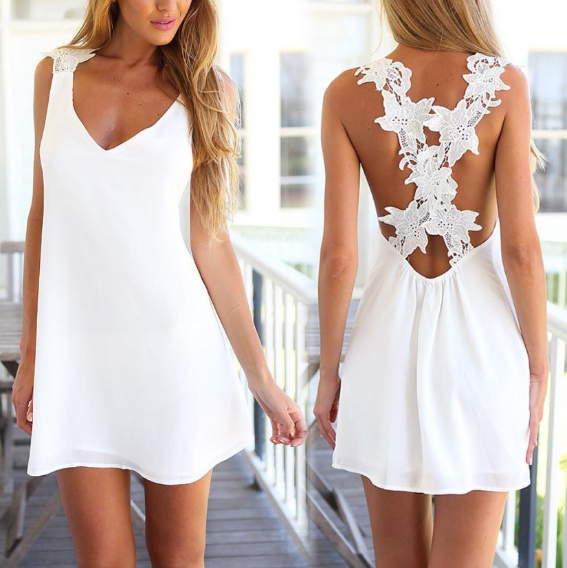 Summer Lace Dress from Bonanza.com