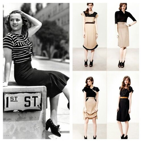 1940s style and its influence today. Photo credit: frangantica.com