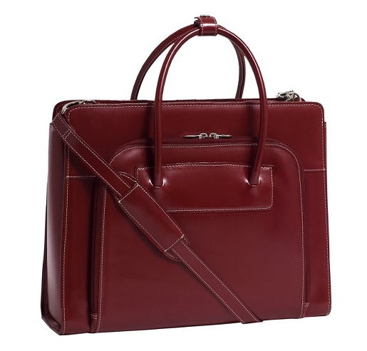 Leather Briefcase with removable laptop sleeve   $96   Target.com