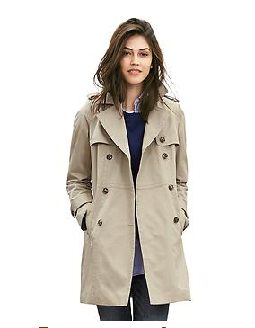 Double-breasted trench | BananaRepublic.com