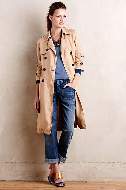 Linen Trench | Anthropologie.com