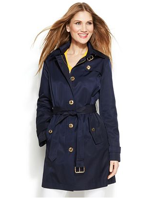 Michael Kors Hooded Trench | Macys.com