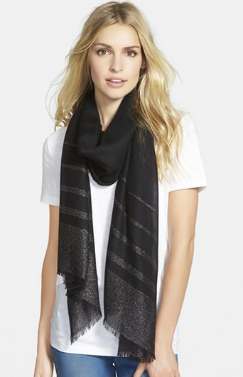 Nordstrom Metallic and Silk Scarf, $98, Nordstrom