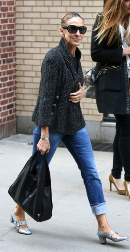 Sarah Jessica Parker in her Mary Janes. LOVE THESE SO MUCH!