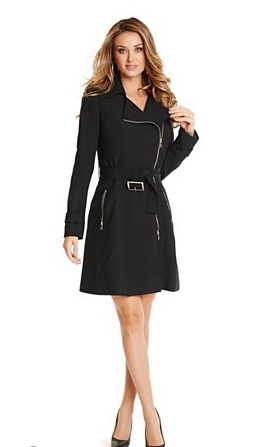 Zippered Trench by Guess | guessbymarciano.guess.com