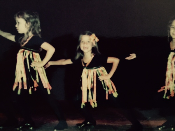 My younger self ... dancing.