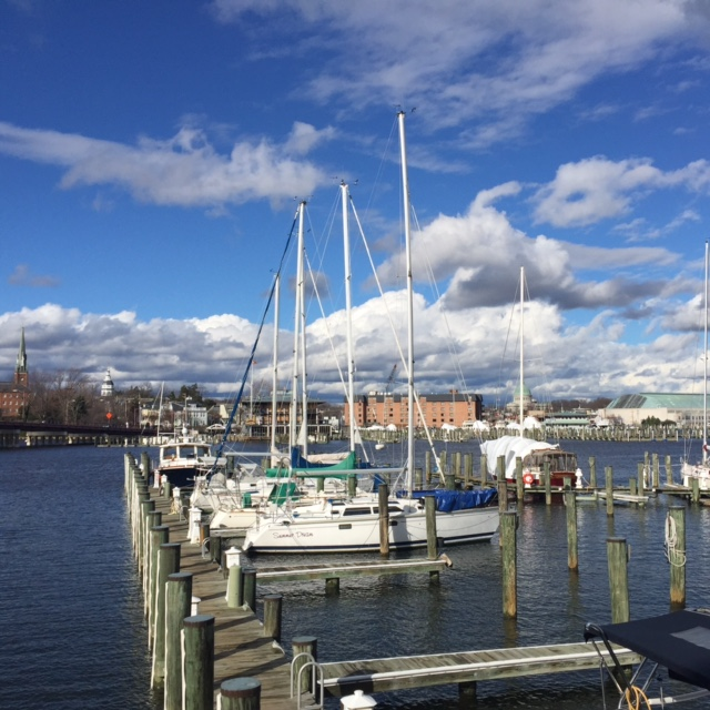 The view from Carroll's Creek Cafe in Annapolis.