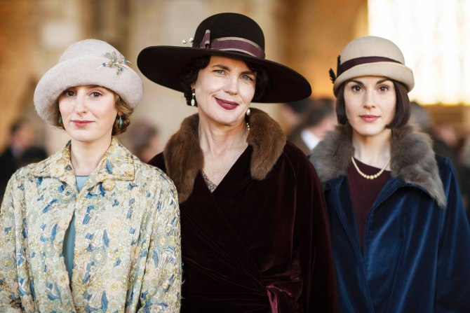 The Grantham girls in their hats--the fashion is so fun to watch on this show.