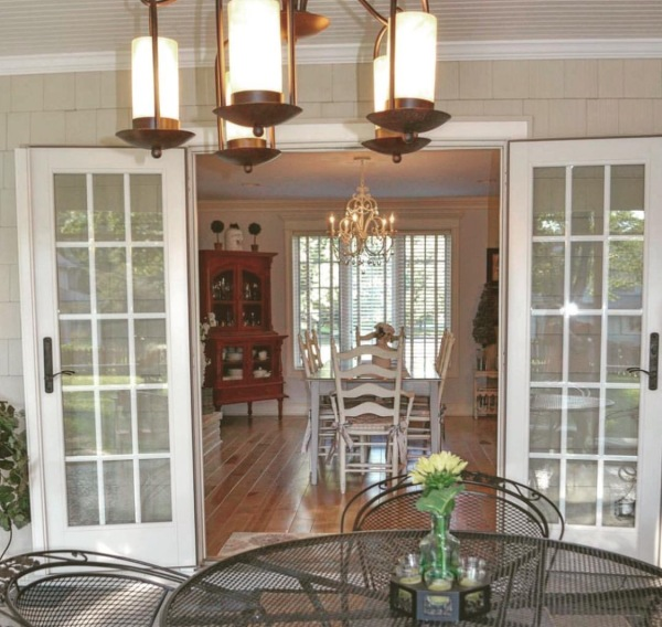 The view from the porch looking into the dining area. I cannot wait for spring...