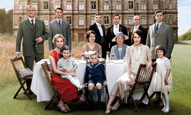 The cast of Downton Abbey. Photo: Radiotimes.com.
