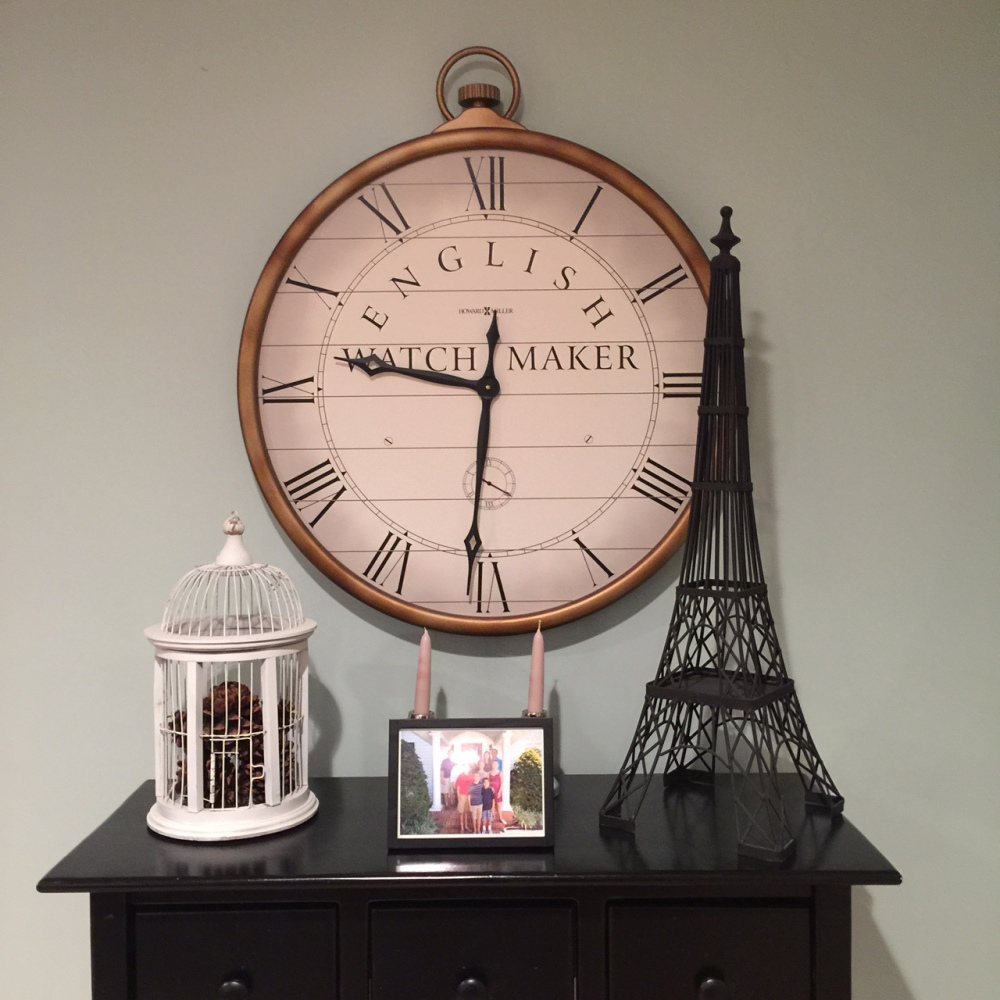 The clock in our living room.
