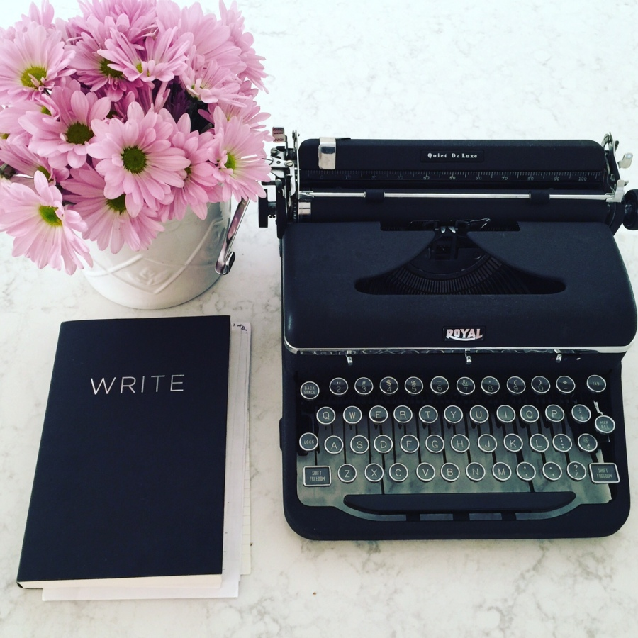 All mine: This Royal typewriter has special meaning to me.
