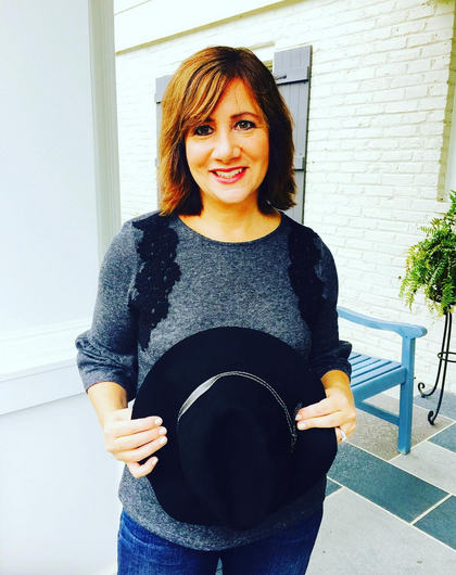 Day 8 | Saturday feels for #frocktober in this comfy #ootd ... #laurenconradcollection top with her jeans (great fit)! Wearing my #sodashoes booties on my feet; #maddengirl hat. Ready for an evening with family. Happy rainy Saturday!