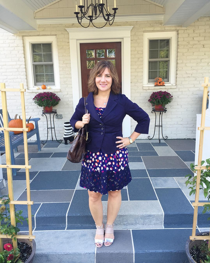 WEDNESDAY | #FROCKTOBER Day 19 | Today's #ootd ... classics with flair from #anthropologie. #moulinettesoeurs polka dot dress with lace trim; #cidra jacket; #apt9 shoes.