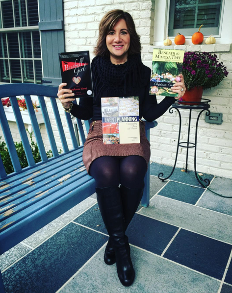 November 1st was also National Author's Day! Promoting my books in this outfit on social media: skirt from #AnnTaylor; black top from H&M; fringy scarf was a gift; #NineWest boots.