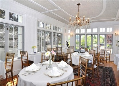 The dining room of the Edgewood Manor House in Providence, RI