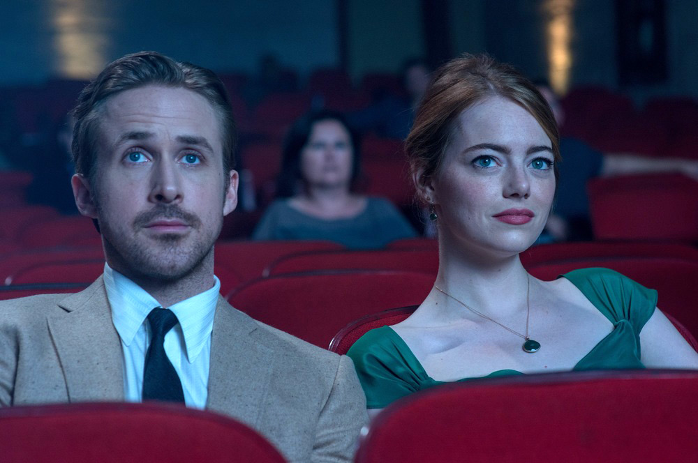Emma Stone and Ryan Gosling in La La Land. Photo credit: imagewire.com