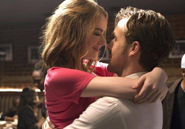 The characters of Mia and Sebastian from La La Land.
