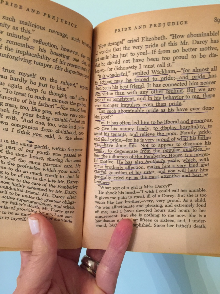 My mother's copy of Pride and Prejudice.