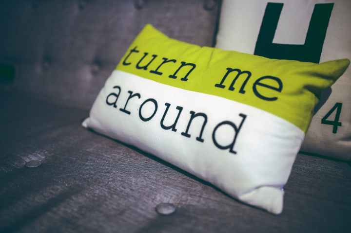 turn me around pillow