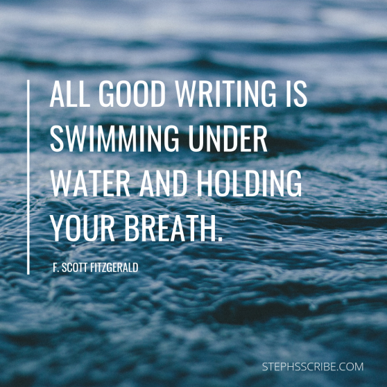 All good writing is swimming under water and holding your breath.-2